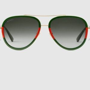 NWOT Aviator Metal Sunglasses by Gucci